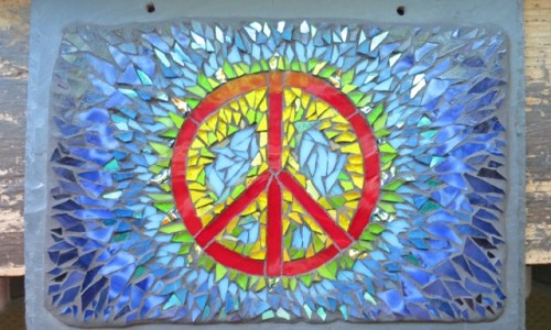 Tie Dye Inspired Peace Symbol by Nutmeg Designs