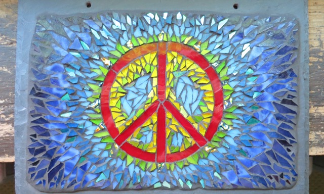 Tie Dye Inspired Peace Sign by Nutmeg Designs