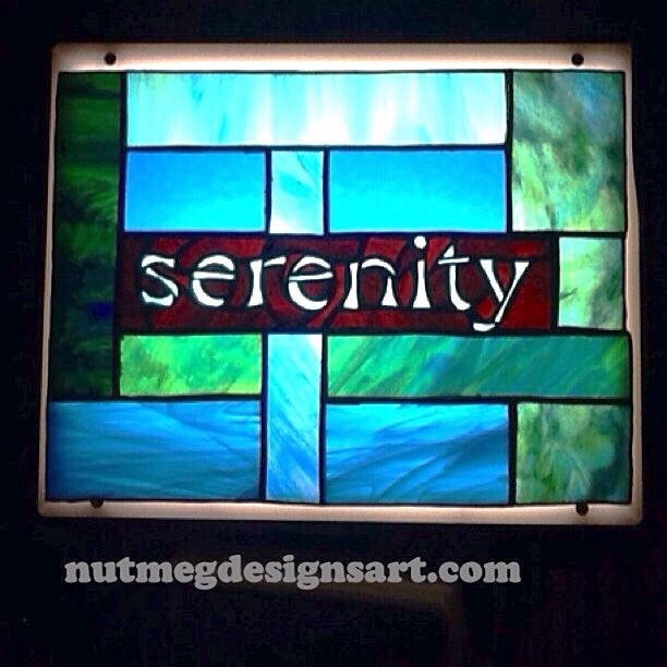 Serenity Stained Glass by Wayne Stratz of Nutmeg Designs