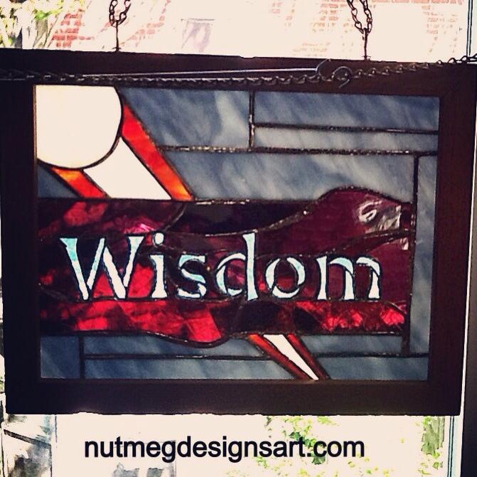 Wisdom Stained Glass Panel  by Wayne Stratz