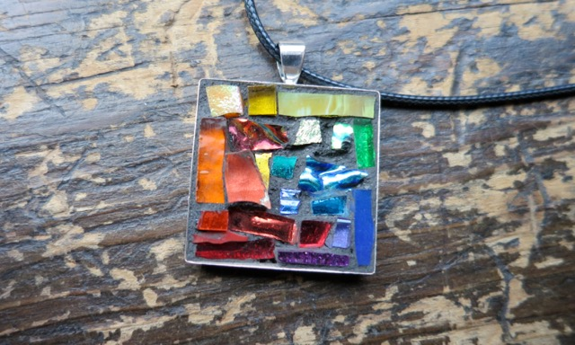 Rainbow Pendant by Margaret Almon of Nutmeg Designs