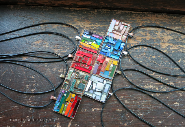 Mosaic Pendants by Margaret Almon of Nutmeg Designs