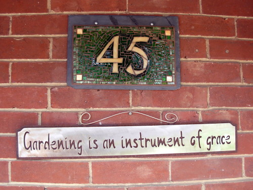 Nutmeg Designs House Number: Take Our Own Advice!