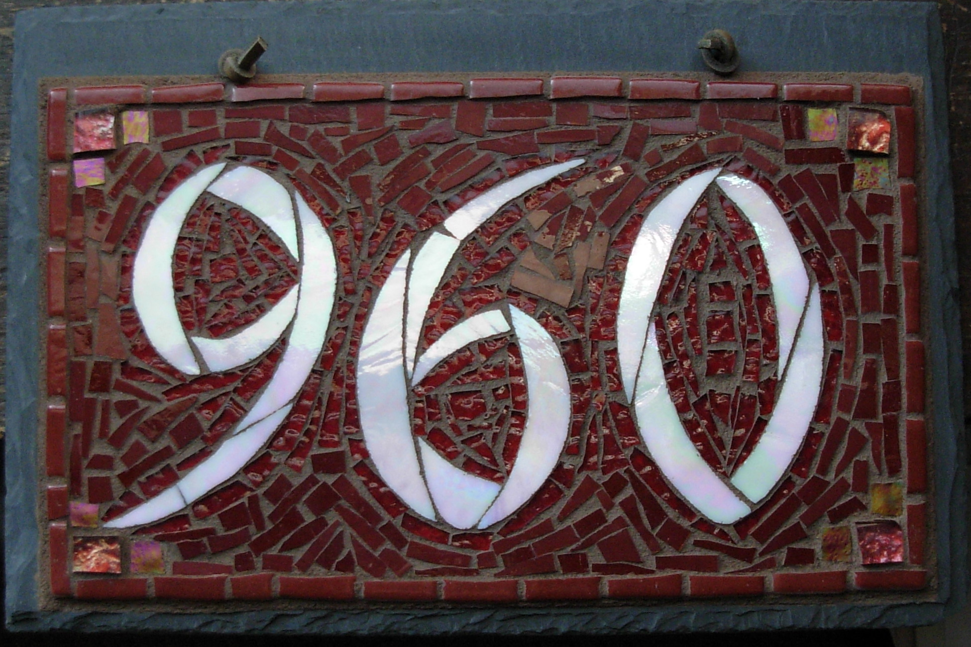 House Number Design Ideas: Customizing Colors Of Your Mosaic House Number