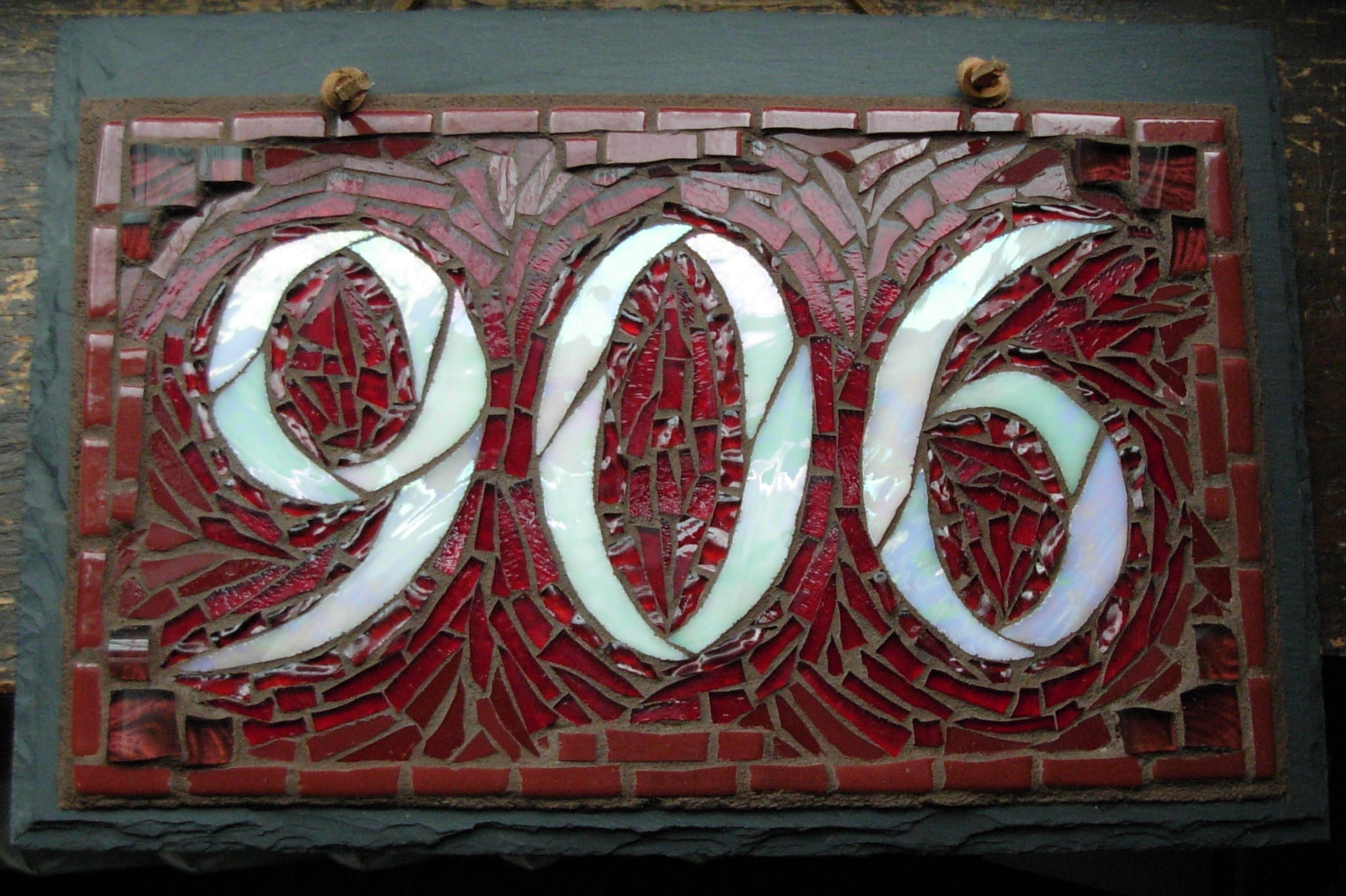 Customizing Colors Of Your Mosaic House Number Nutmeg