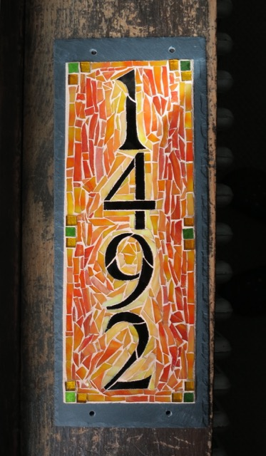 House Number 1492 for a California Mission Style Stucco