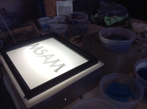 MSAM on the Lightbox.