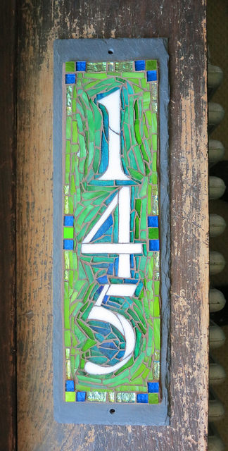 Vertical 145 House Number for a Polychrome Porch in Buffalo, NY