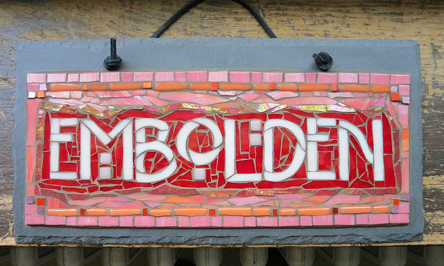 Embolden Mosaic in Pink and Red by Nutmeg Designs