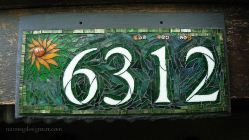 Custom House Number 6312 by Nutmeg Designs