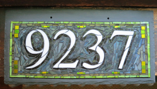 Nutmeg Designs House Number in Bear Creek Gray and Agave