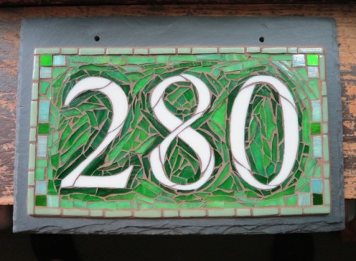 Green House Number 280 by Nutmeg Designs