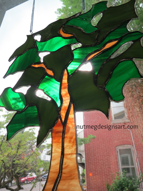 A Stained Glass Tree Imagined and Designed by Wayne Stratz