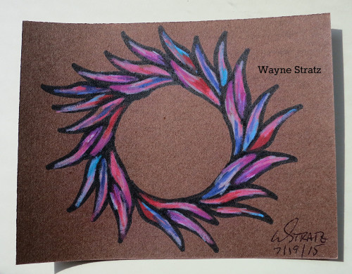 Custom drawn card for a friend missed at work by Wayne Stratz 8/2015