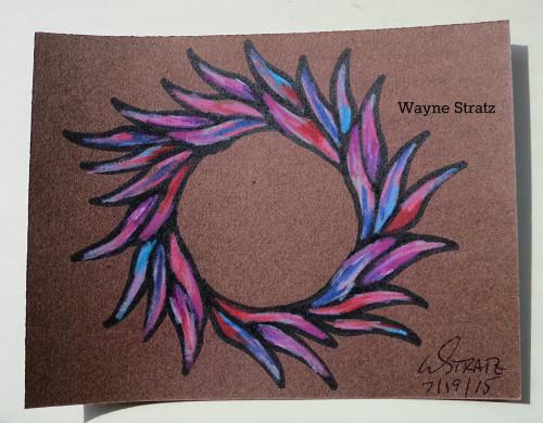 Custom drawn card for a friend missed at work by Wayne Stratz 8/2015