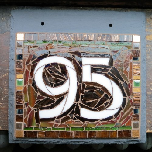 Arts & Crafts House Number in Chelsea Studio Font by Nutmeg Designs