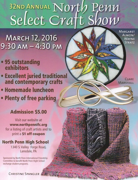 Nutmeg Designs at North Penn Select Craft Show, March 12, 2016