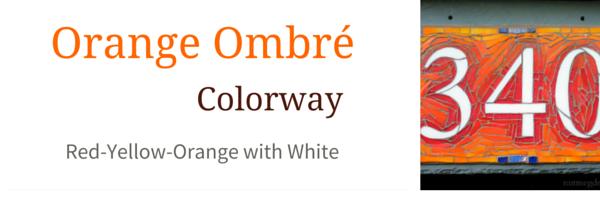 Orange Ombré Colorway for Nutmeg Designs House Numbers