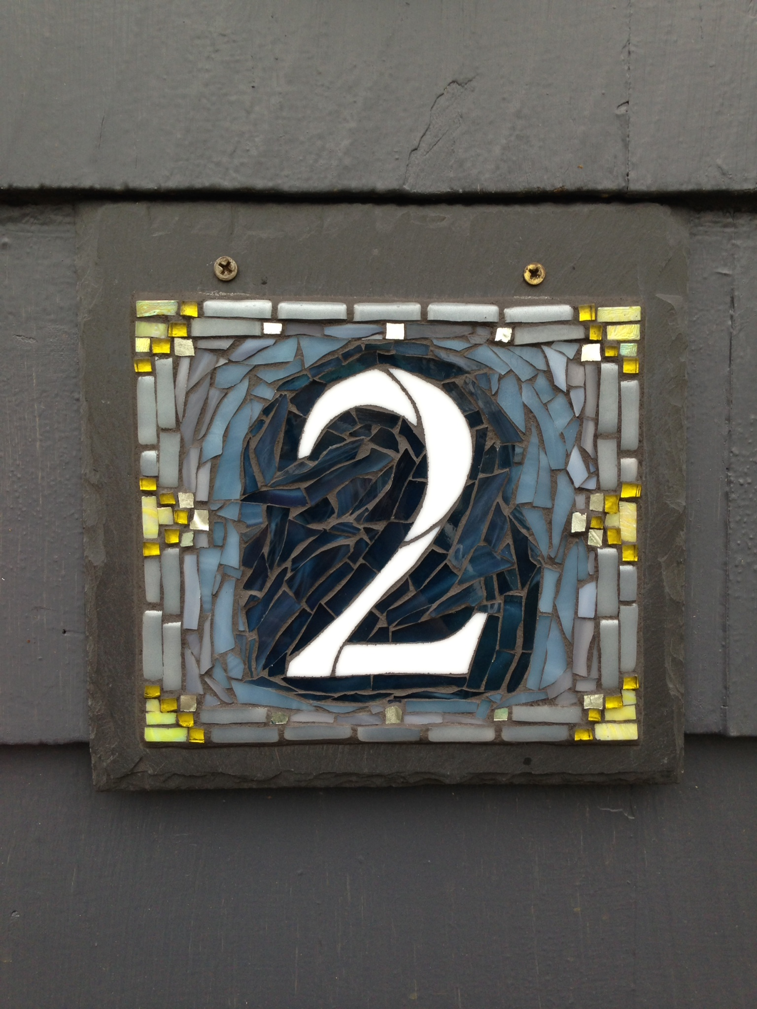 Newport Colorway for a Nutmeg Designs House Number