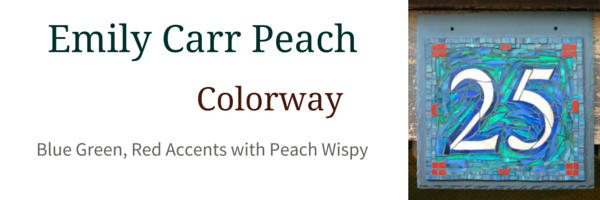 Emily Carr with Peach Colorway for Nutmeg Designs House Numbers
