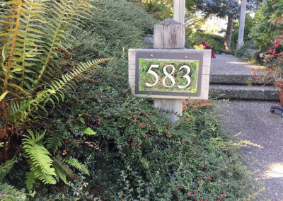 Nutmeg Designs Spring Green House Number for a Garden