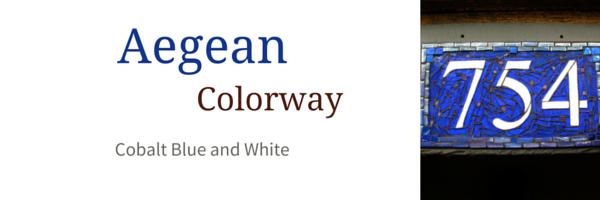 Aegean Colorway for Nutmeg Designs House Numbers