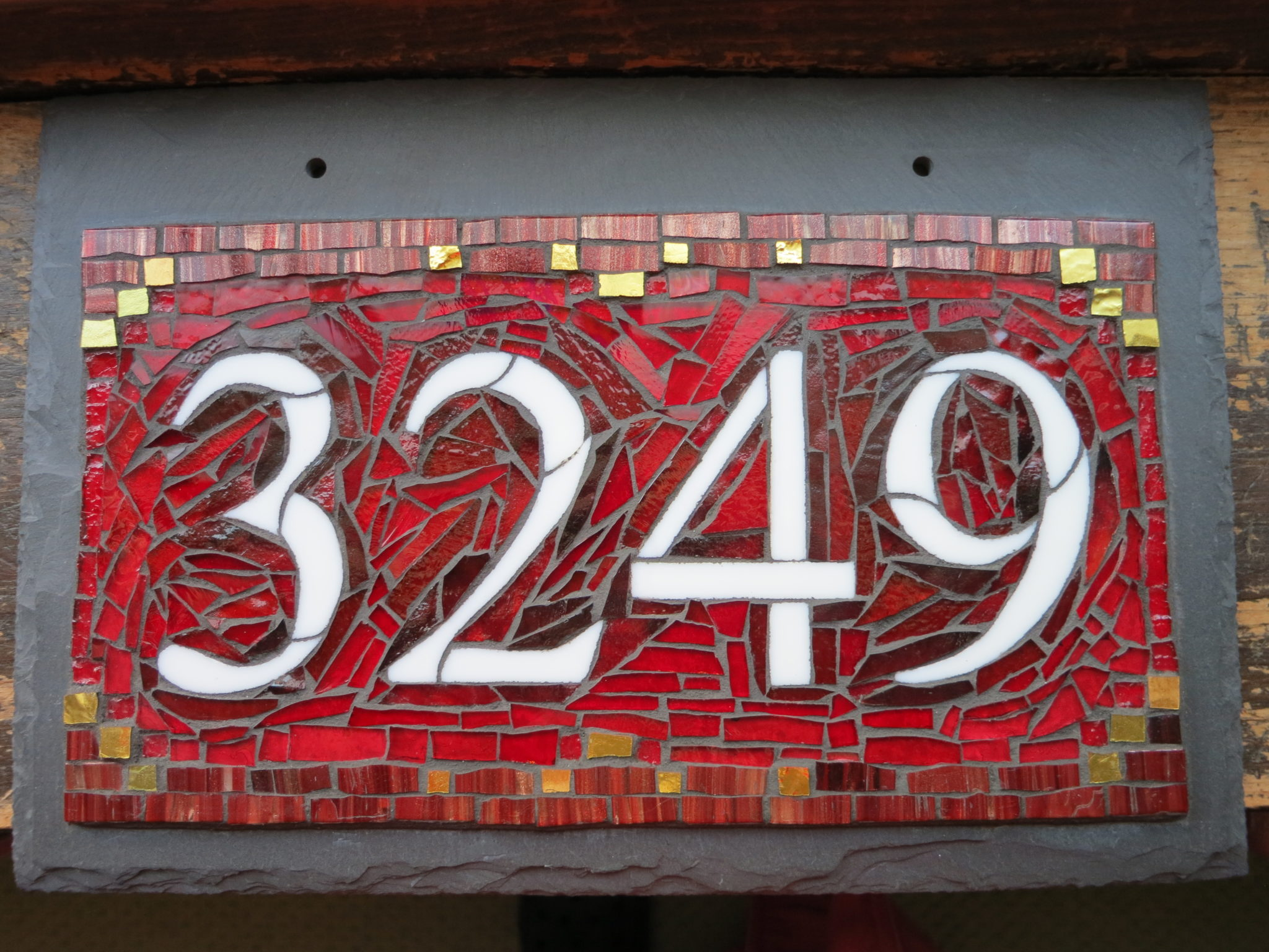 Roycroft Red Colorway for Nutmeg Designs House Numbers