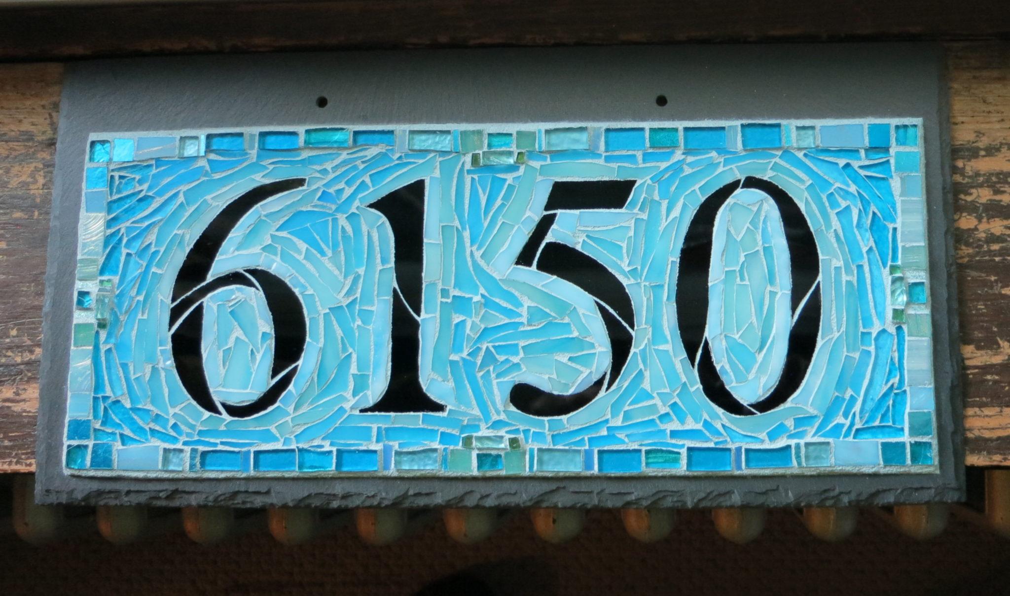 Blue Skies 6150 House Number by Nutmeg Designs