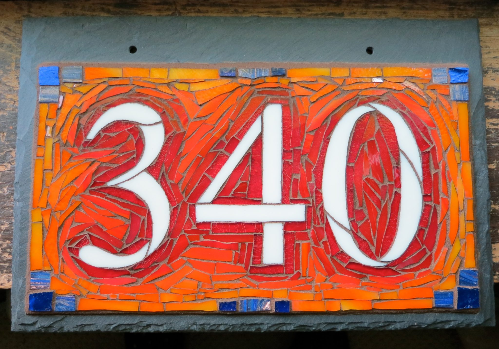 Orange Ombré Colorway for Nutmeg Designs House Numbers