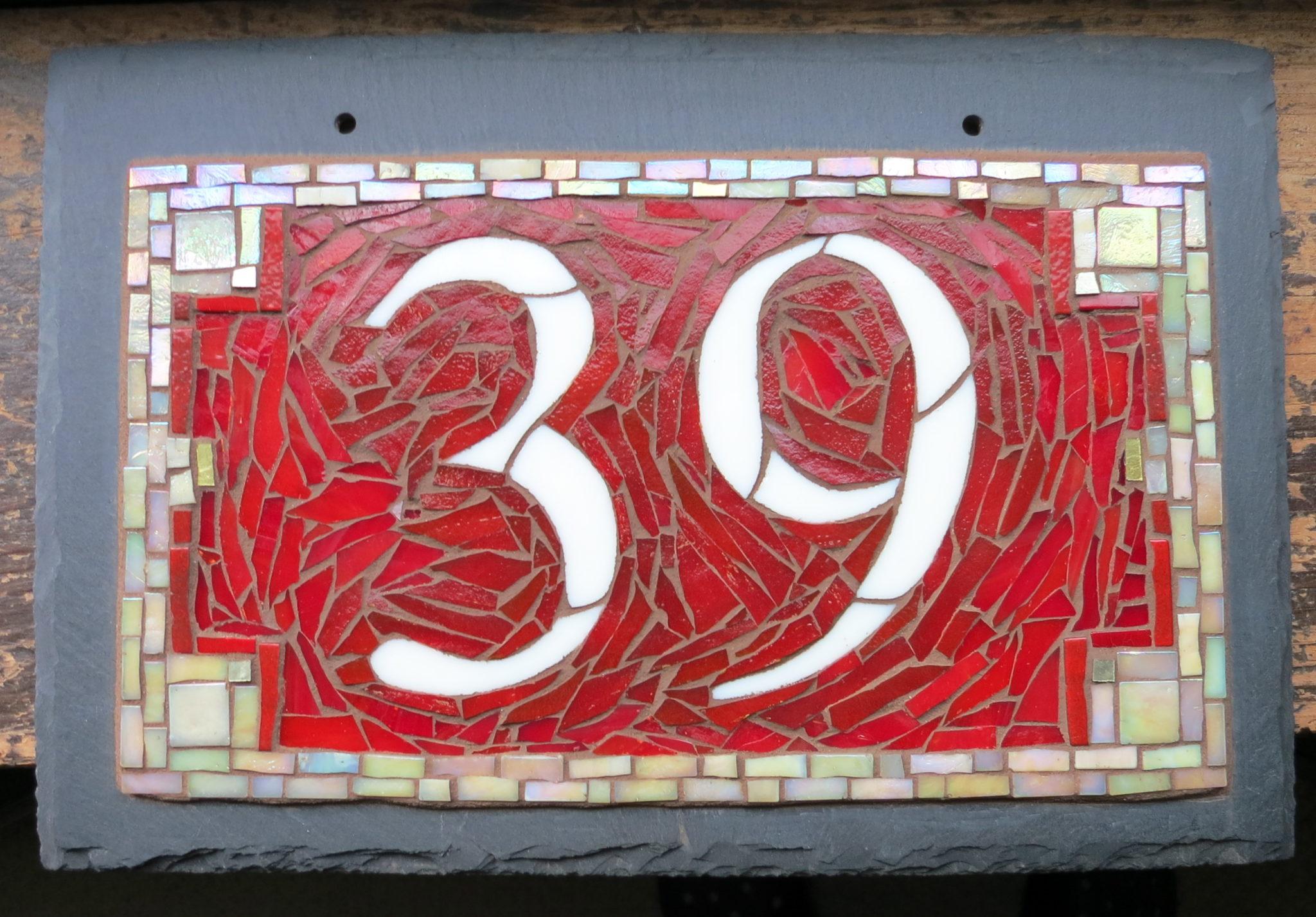 Roycroft Red Colorway for Nutmeg Designs House Numbers
