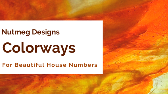 Colorways for Beautiful House Numbers