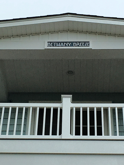 Bethany Breeze Beach House Name Sign by Nutmeg Designs