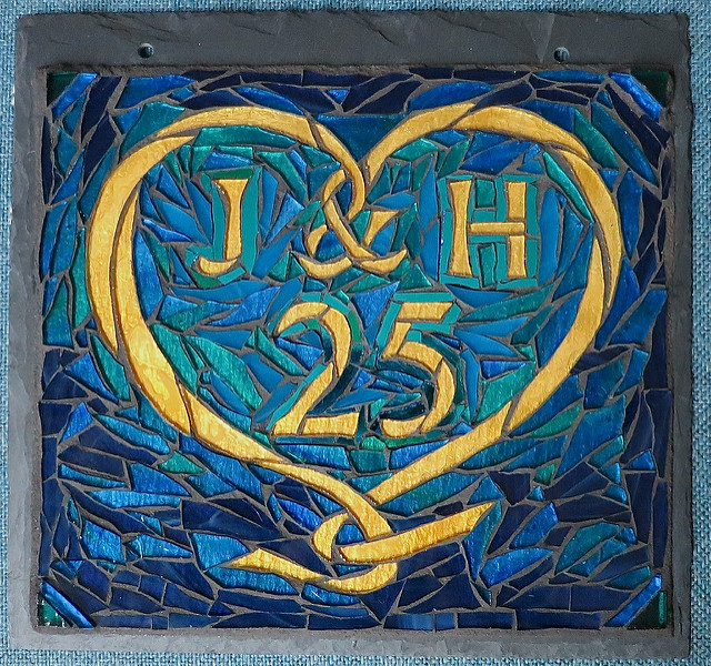 Heart for a 25th Anniversary by Nutmeg Designs