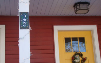 House Number for a Glorious Wrap Around Porch in New England