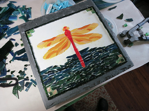 Dragonfly Mosaic in Progress