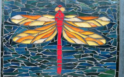 Imagining What's Possible: Dragonfly Mosaic for a Birthday Gift