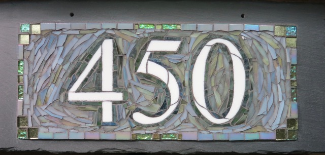 Mosaic House Number 450 in Gray by Nutmeg Designs
