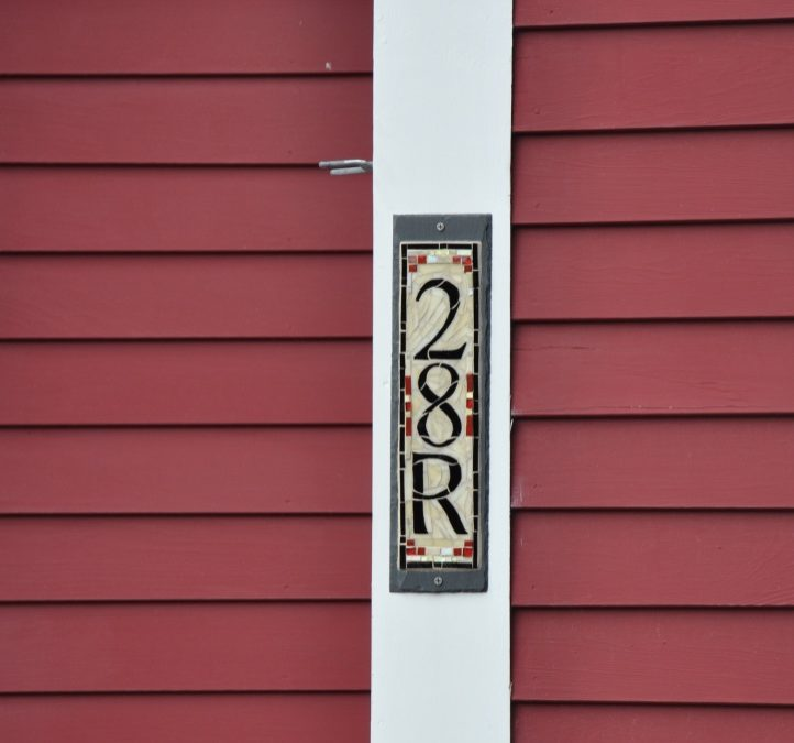 House Number with a Letter: For a Sweet Red and White New England Cottage
