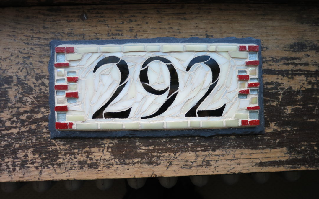 Number Plaque for a 1905 California Bungalow