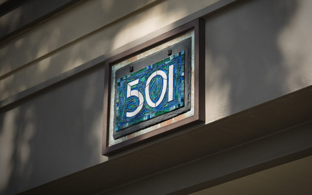 House Number for a Historic Craftsman Bungalow in Long Beach