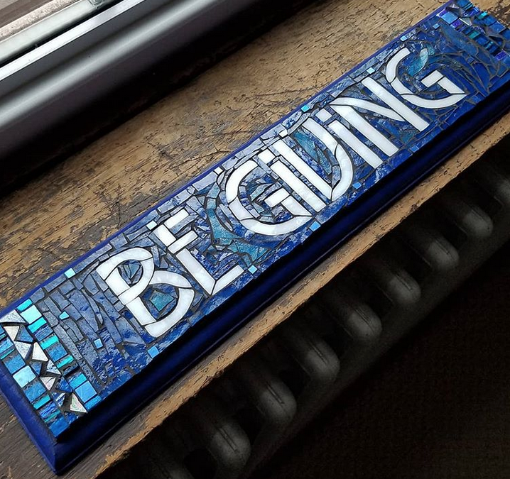 Honoring a Grandfather with a Favorite Saying in Mosaic: Be Giving