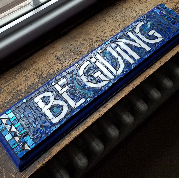 Be Giving mosaic sign by Nutmeg Designs