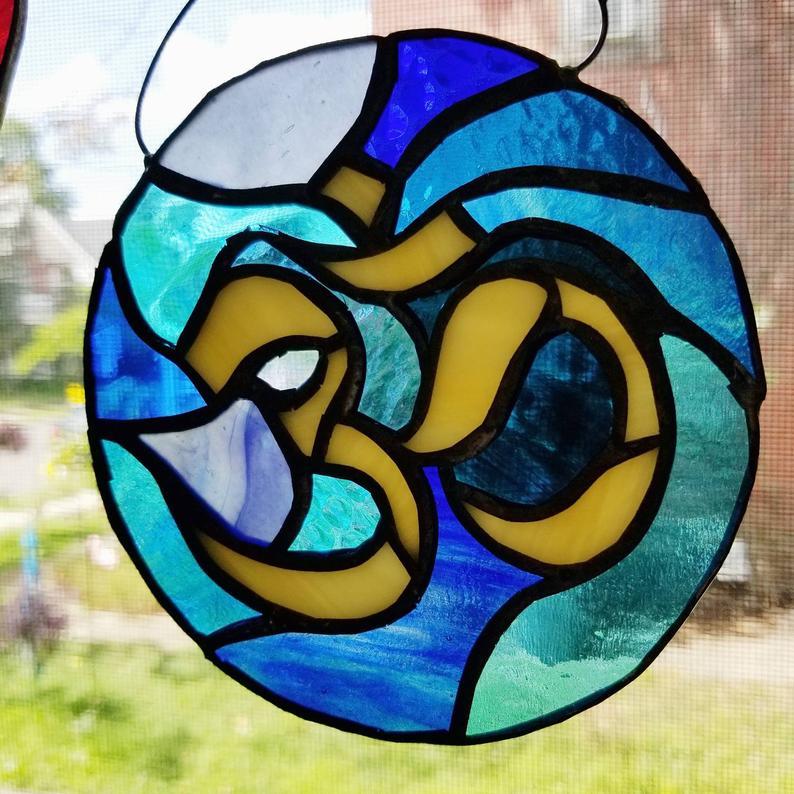American Kestrel Mosaic by Wayne Stratz