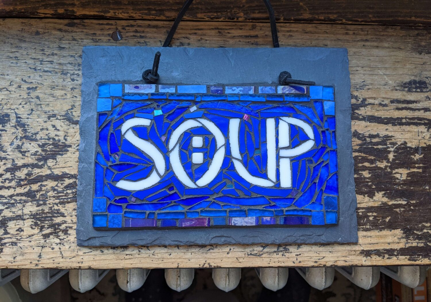 Mosaic Soup Sign by Nutmeg Designs