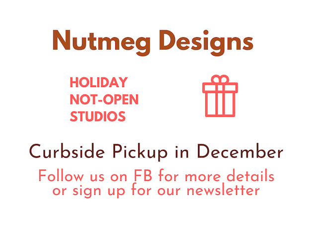 December Curbside pick up at Nutmeg Designs in Lansdale